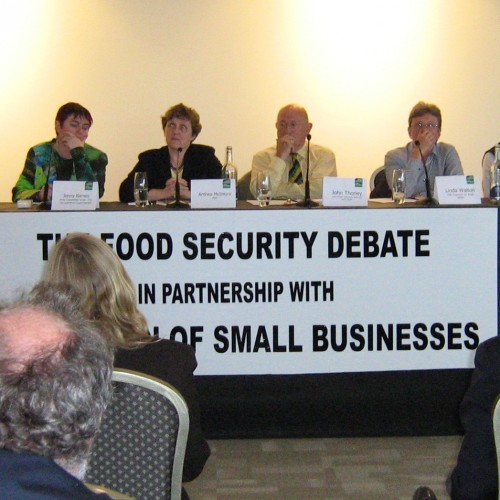 The panel at the Food Security Debate