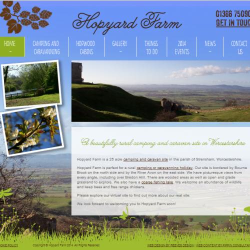 The new Hopyard Farm website