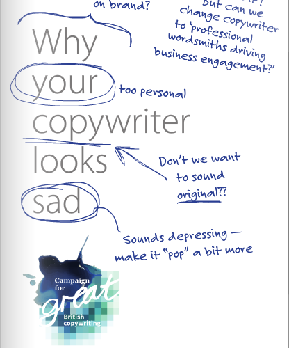 Why your copywriter looks sad