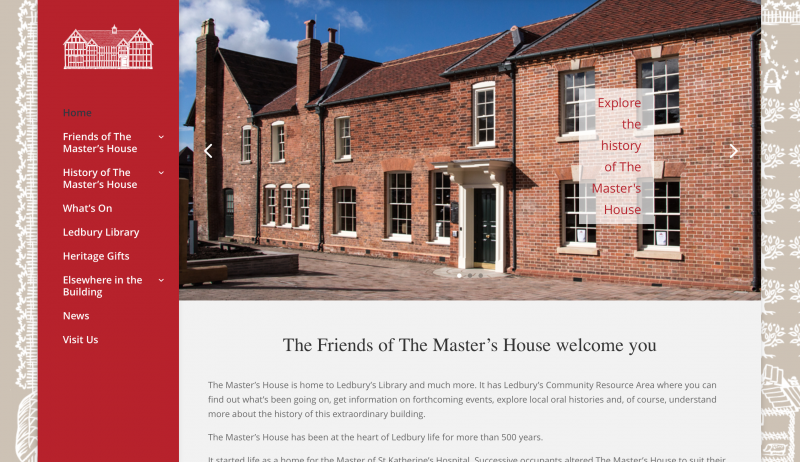 The Master's House website