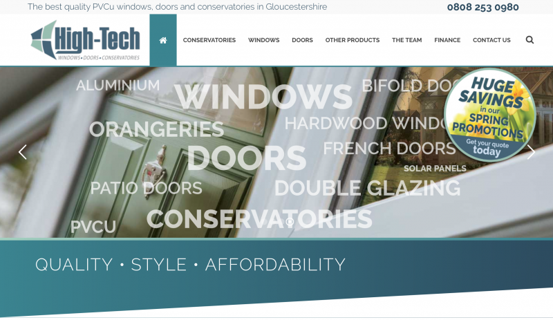 High-Tech Windows website copywriting project